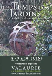 """Biennale des créateurs"""" Le Temps des Jardins à  Valaurie"""""""