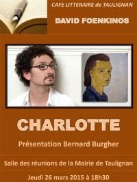Café littéraire de Taulignan | Charlotte de David Foenkinos
