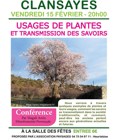 2019 PAYSAGES CONFERENCE PLANTES